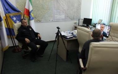 Policijski komesar Semir Šut učestvovao na video konferenciji koju je održao ministar sigurnosti BiH